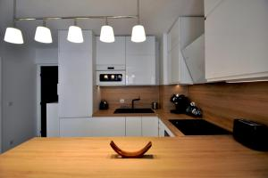 A kitchen or kitchenette at Modern flat with BALCONY in La Joliette