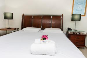 Cama ou camas em um quarto em San Fernando Hotel