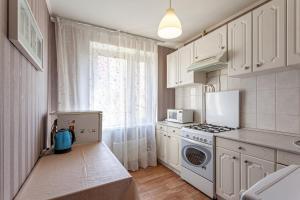Кухня или мини-кухня в Economy Brusnika Apartment Kuzminki