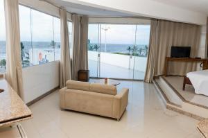 Uma área de estar em San Fernando Hotel