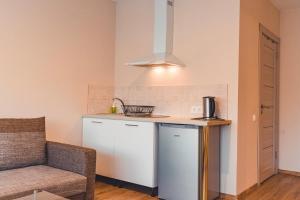 Virtuve vai virtuves zona naktsmītnē O.K. Hotel