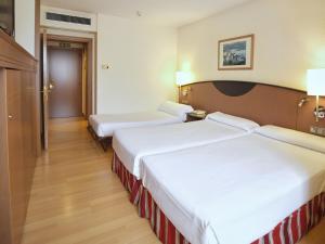 Cama o camas de una habitación en Hotel Albret