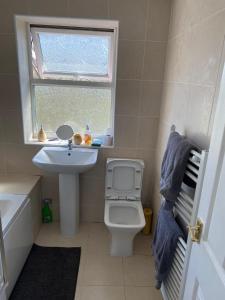 A bathroom at ColClough House