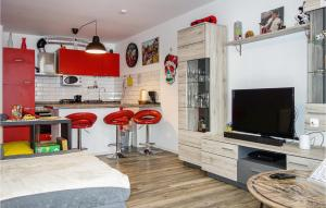 A kitchen or kitchenette at Awesome home in Aachen with WiFi and 1 Bedrooms