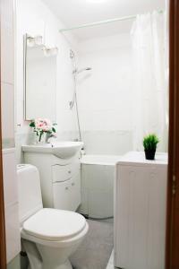 A bathroom at Великолепные Апартаменты в центре, Как Дома