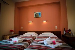 Een bed of bedden in een kamer bij Margarita Aparthotel