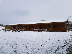 Cowbridge Cabins during the winter