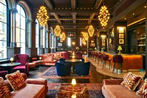 The lounge or bar area at The Grand Hotel Birmingham