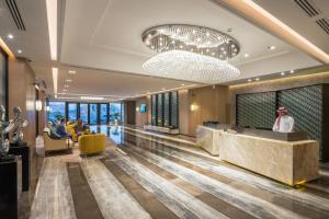 O saguão ou recepção de Aber Hotel Al Munsiyah