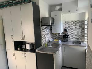 A kitchen or kitchenette at Komoheni Apartment