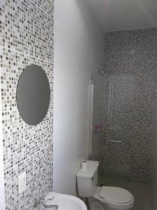 A bathroom at Hotel La Democracia