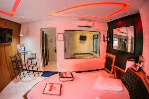 Dining area at the love hotel
