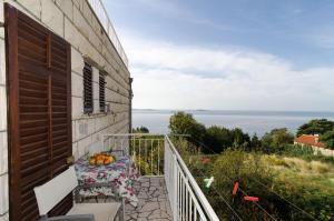 A balcony or terrace at Apartments Matuško