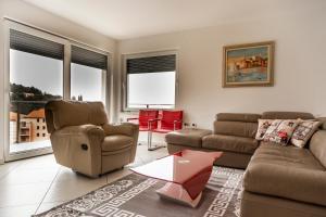 Predel za sedenje v nastanitvi Heart of Strunjan Apartments AL