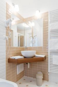 A bathroom at Hotel Aganoor