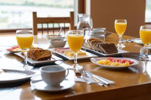 Opciones de desayuno para los huéspedes de Los Cerros del Chaltén Boutique Hotel