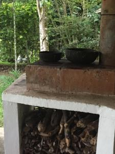 BBQ facilities available to guests at the campground