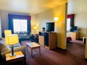 A television and/or entertainment center at Best Western Golden Prairie Inn and Suites