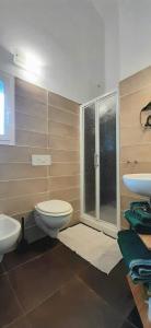 A bathroom at Amandolevanto B&B