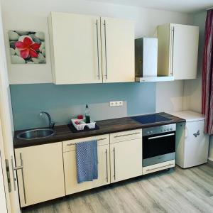 A kitchen or kitchenette at Pension Belo Sono