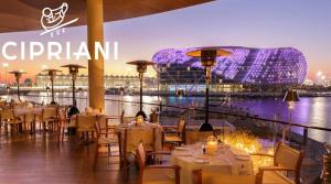 A restaurant or other place to eat at Yas Island