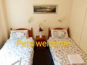 A bed or beds in a room at Commodore Guesthouse & Self-Catering Suites and Cottage