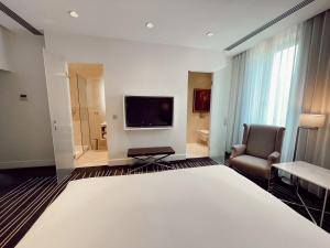 A television and/or entertainment center at Maison Pic
