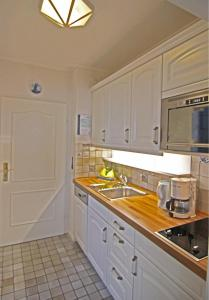 Küche/Küchenzeile in der Unterkunft Kapitänin Maria