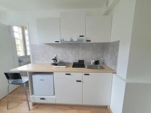 A kitchen or kitchenette at SpaceZZZ Studio Marseille-Cassis