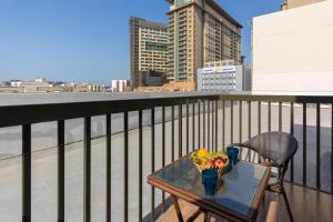 A balcony or terrace at Le Wana Hotel