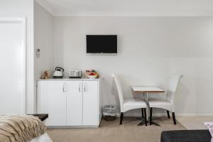 A television and/or entertainment centre at The Oxley Estate