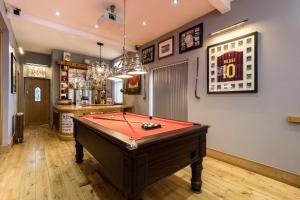 A billiards table at Dungraften House