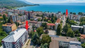 Pohľad z vtáčej perspektívy na ubytovanie Apartments Matjan