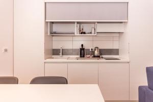 A kitchen or kitchenette at Hotel Ristorante Cigno