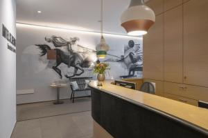A kitchen or kitchenette at Boutique Hotel St. Georg