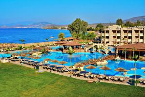 A view of the pool at Kandia's Castle Resort & Thalasso Nafplio or nearby
