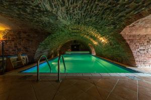 The swimming pool at or near Chateau Zbiroh