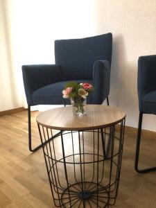 Ein Sitzbereich in der Unterkunft Gästehaus Weber-Loskill