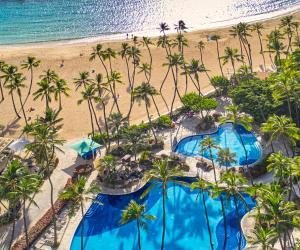 A view of the pool at Hilton Hawaiian Village Waikiki Beach Resort or nearby