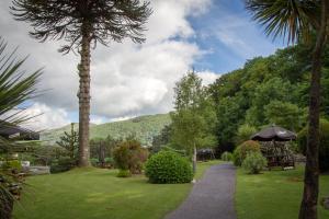 A garden outside Royal Victoria Hotel Snowdonia