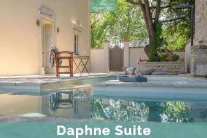 The swimming pool at or near Carpofoli Corfu