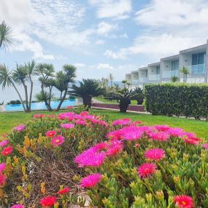 A garden outside Marina Mar II