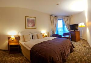 A bed or beds in a room at Hotel Amaryllis