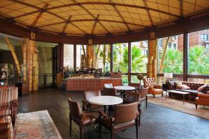 A restaurant or other place to eat at Disney Explorers Lodge