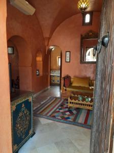 A seating area at Maison Leila