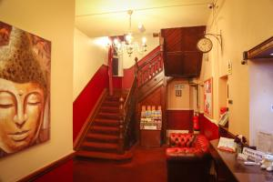 The lobby or reception area at Croft Hotel