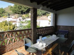 En restaurang eller annat matställe på Villa Damián