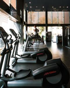 The fitness center and/or fitness facilities at Hard Rock Hotel Cancun - All Inclusive