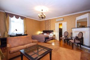A seating area at Luxury apartments in the historical building in the heart of Old Town