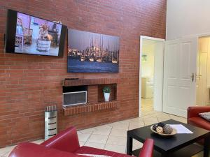 TV/Unterhaltungsangebot in der Unterkunft Ferienhaus Bensersiel Lammertshörn 4